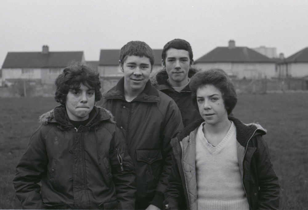 Teenages back field Ballymun early 1980s