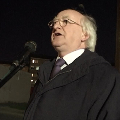 Michael D Higgins in St.Michael's Estate 2003